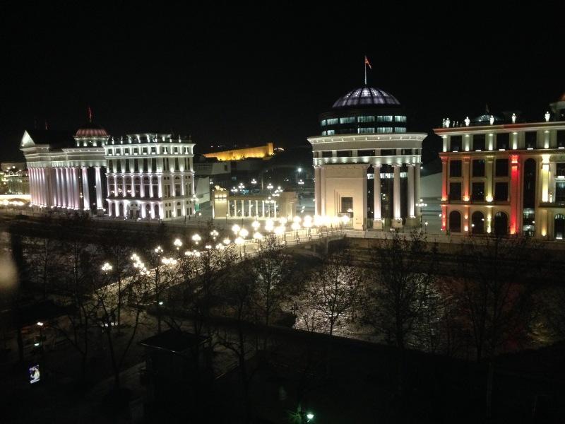 Il centro di Skopje